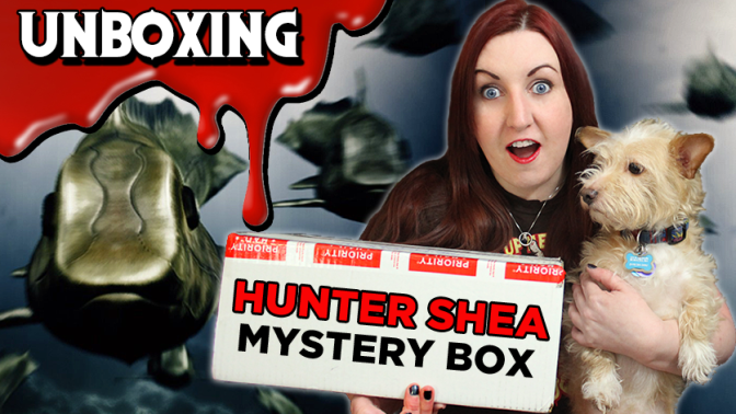 HUNTER SHEA HAUL & GIVEAWAY | Mystery Unboxing from Horror Author