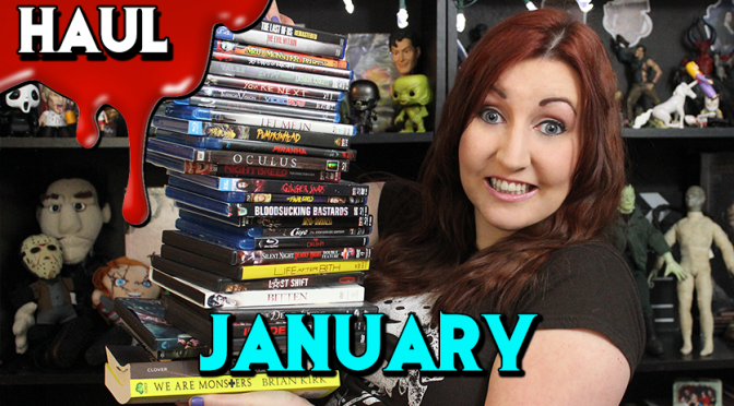 HORROR HAUL & DIGITAL GIVEAWAY | Movies, Books & Games (January 2016)